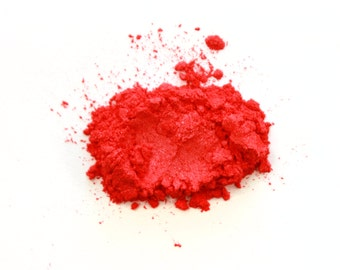 1 oz. Raspberry Red Mica Powder for Soap Making, Polish Supplies Bath and Body Handmade Cosmetics Pigment Powder Natural 6214