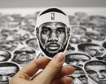 Scribbled LeBron James - Vinyl Sticker