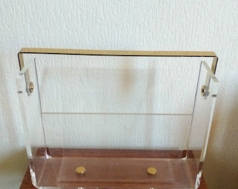 Vintage perspex acrylic lucite magazine stand