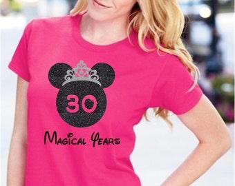 Disney Birthday Shirt| Disney Birthday Girl Shirt |Disney Princess Minnie Birthday Tshirt |Minnie Mouse Birthday|Cute Gift| Celebrating My