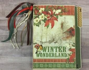 File Folder Folio #10: Graphic 45 Winter Wonderland Tutorial