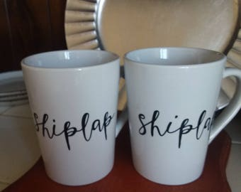 "Mugs- Set of 2, ""Shiplap"""