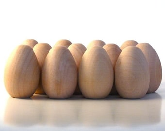 100 Wooden Eggs, Medium - Decorate it Yourself