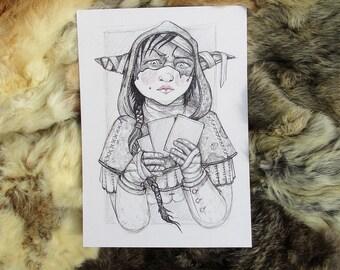 Nott the Brave. Critical Role Fanart. A4 Artprint.