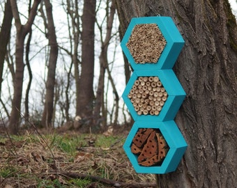 BEE HOTEL, Insect house, Mason bee home - Superiorhotel Turquoise