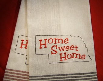 "Nebraska ""Home Sweet Home""  Kitchen Towel"