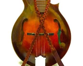 Custom Braided A or F Style Mandolin Strap