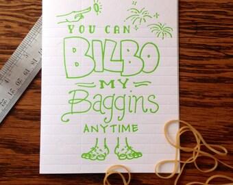 Nerdy Neon - Bilbo Baggins