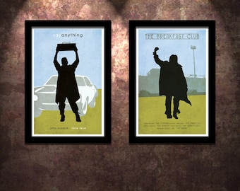80's Icons 2 Pack Say Anything / The Breakfast Club Original Limited Edition Art Print Poster  John Cusack Judd Nelson Molly Ringwald