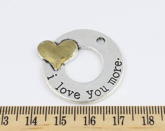 2 I love you more charms - EF00263