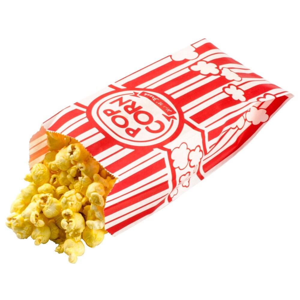 Retro Red & White Carnival Popcorn Bags Circus Movie Sports