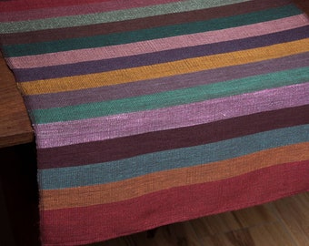 Table Runner - Colourful stripes OOAK