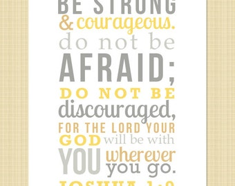 Joshua 1:9 - Be strong and courageous! DIGITAL LISTING - Print Yourself