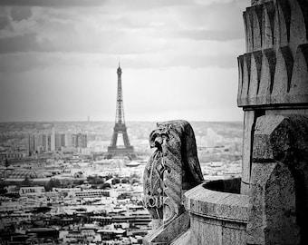 View From Sacre Coeur-Paris,France,Fine Art Photo multiple sizes available, Architecture,Landscape,Parisian, Eiffel tower, View,Basilica