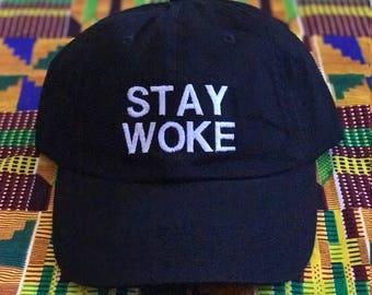 Stay Woke Dad Hat