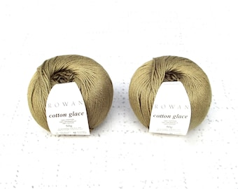 Rowan cotton glace yarn, olive yarn, Destash Yarn