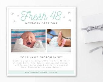 Newborn Mini Session Template, Fresh 48 Session Template, Mini Session Template for Photographers, newborn photography template