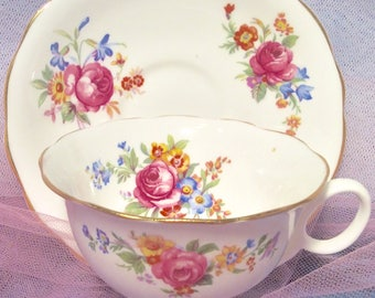 Pretty in Pink-Radfords Bone China Teacup and Saucer