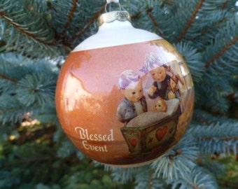 Vintage Hummel Christmas Ornament, Blessed Event  by Goebel 1983