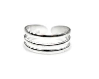 Sterling Silver Triple Toe Ring