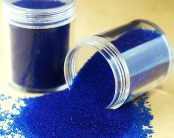 1 Bottle of 5/10/15 Grams Blue Micro beads Balls Caviar Nail Art Glass Beads Manicure Microbeads Miniature Toppings Faux Sprinkles MB_BU.B