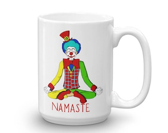 Halloween Clown Joker Yoga Namaste Coffee Mug made in the USA