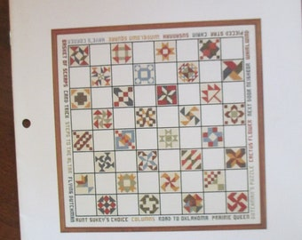 """1982  Cross Stitch paper pattern booklet """"Thread Connections"""" 10 pages used Country cross stitch"""