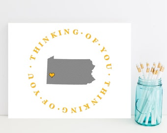 Pennsylvania Stationery, Stationary - Steelers Thinking of You Card