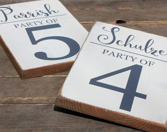 Party of Sign w/ Family Name Custom Sign