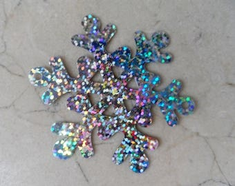 """10 pendants charms """"snow Queen"""" snowflakes 64 mm"""