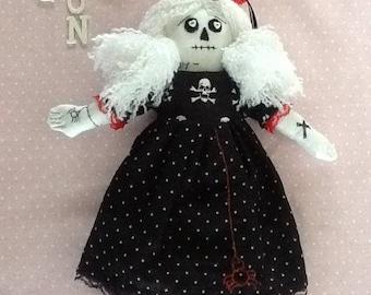 Rag 'Goth' Doll