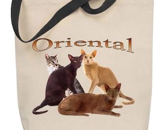 Oriental Cat Tote Bag