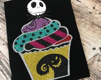 Nightmare Before Christmas Jack Skellington Inspired cupcake shirt, Sally Oogie Boogie