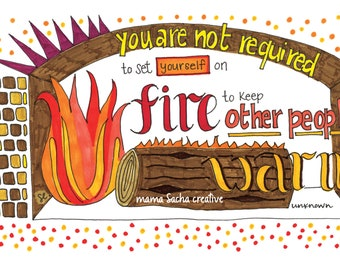 Warm Fire I card