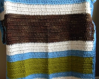 SALE - Super big 2 person blanket - Wool - Earth Tones - Ready to ship