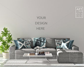 Blank Wall Mock up, Styled Stock Photography, Mock-up, Sofa mock up, Couch Mockup, Scandinavian Interior, Wall Mockup, Background, File 1113