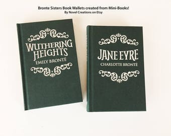 Jane Eyre Book Cover Wallet - Book Wallet Literary Gift - Wuthering Heights Book Cover Wallet - Bronte Sisters Credit Card Book Wallet