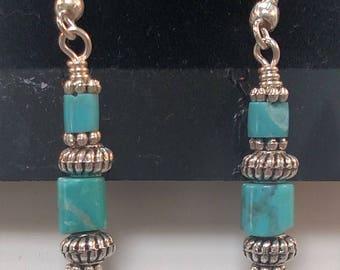 66-Turquoise Earrings
