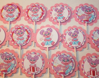 Abby Cadabby Inspired Cupcake Toppers