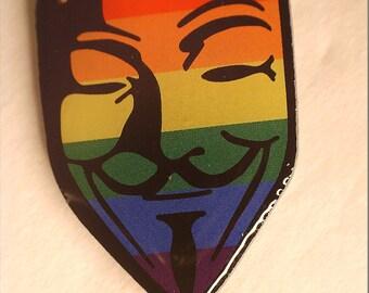 Gay Fawkes Mask Pin (LGTB)