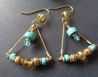 Golden Goddess Earrings
