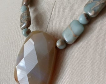 Soft Neutral Stone Necklace