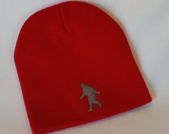 Red Youth Knit Bigfoot Beanie