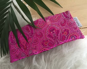 Eye pillow paisley fabric for yoga and meditation with lavender and flaxseed, lavender eye pillow, eye mask, aromatherapy eye pillow