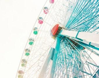 Ferris Wheel Photograph, Carnival Photography, State Fair Photo, Nursery Decor, Whimsical, Kids Room Decor, Boy Nursery, Girl Art Picture
