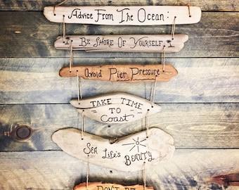 Advice From the Ocean - beach house, beach decor, ocean, waves, seashore, crabs, pier, coastal living