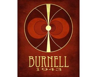12x18 Burnell Astronomy Art - Jocelyn Bell Burnell Rock Star Scientist Poster, Cosmic Pioneer Steampunk Science, Radio Pulsar Neutron Star