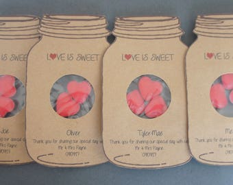 Named Love is Sweet/ Love Bug Wedding favours