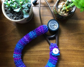 Knitted stethoscope cover 18""