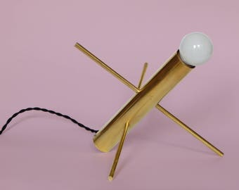 Modern Accent Lamp • Holly Modern • Mid Century Modern Brass Desk Light • Accent Light • Object • Decor • Adjustable accent light
